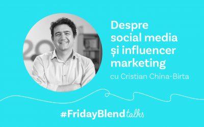 """Cristian China-Birta, consultant social media: """"Cel mai important asset pentru un antreprenor este bugetul de marketing"""""""